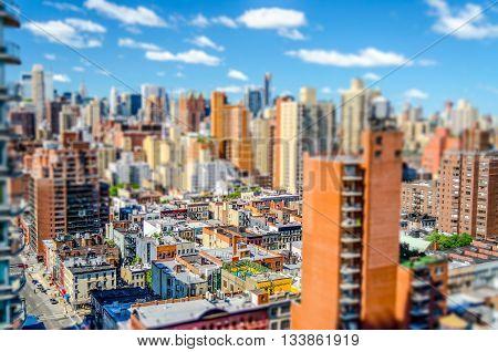 View Of Upper East Side, New York. Tilt-shift Effect Applied