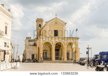 The Madonna Del Canneto Sanctuary In Gallipoli, Italy
