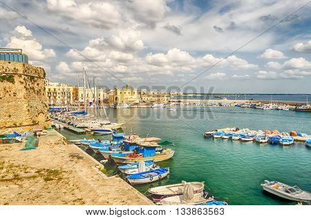 Scenic View Of Gallipoli, Salento, Italy