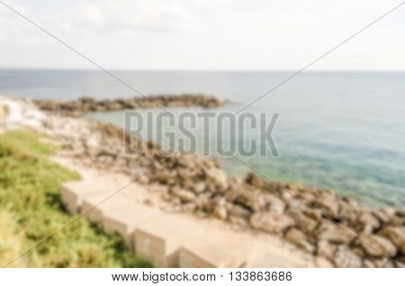 Defocused Background With Scenic View Of Gallipoli Waterfront, Salento, Italy