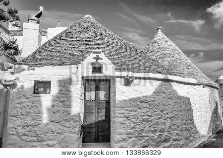 Typical Trulli Buildings In Alberobello, Apulia, Italy