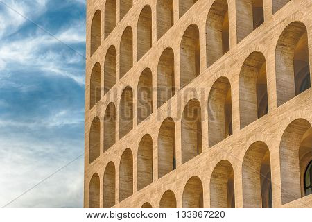 Neoclassical Architecture In Eur District, Rome, Italy