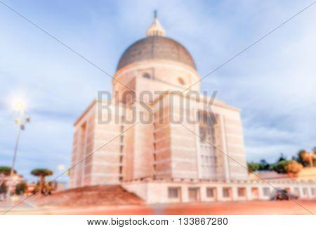 Defocused Background With Church Of Santi Pietro E Paolo,  Rome