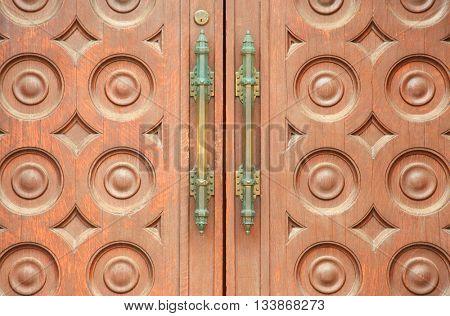Door close up exterior handles