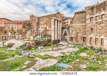 Forum Of Augustus, Ruins In Via Dei Fori Imperiali, Rome