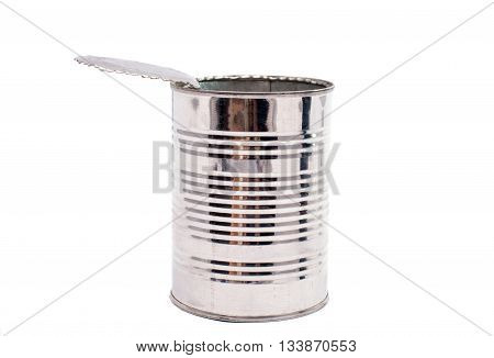 Canning empty cans isolated on white background