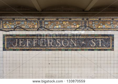 Jefferson Street Station - Nyc Subway
