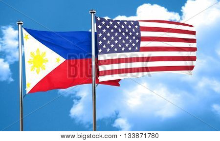 Philippines flag, 3D rendering