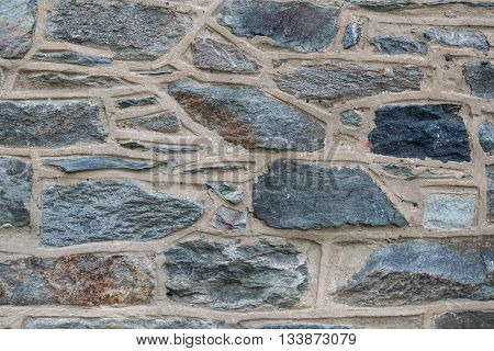 Varying Stone Wall Background image from historic building
