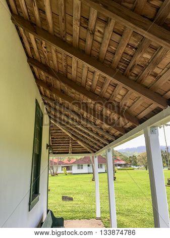 The Green church in Hanalei, on Kauai, Hawaii