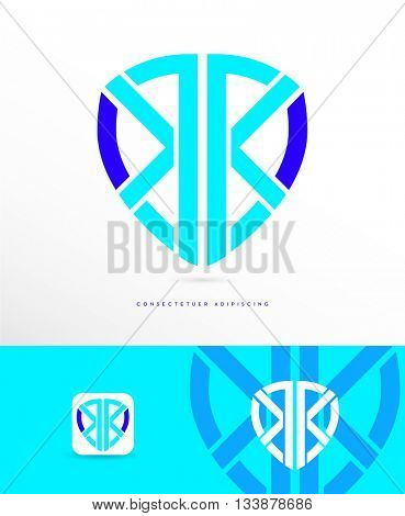 PREMIUM DESIGN , ABSTRACT, DYNAMIC SHIELD VECTOR LOGO / ICON IN SUPER BRIGHT COLORS