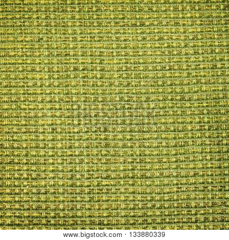 Table linen woven with dark green fibers.