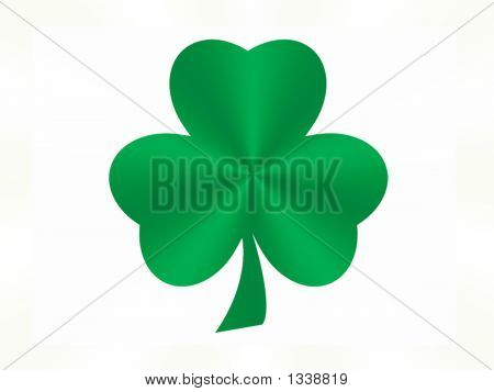 Green Satin Shamrock