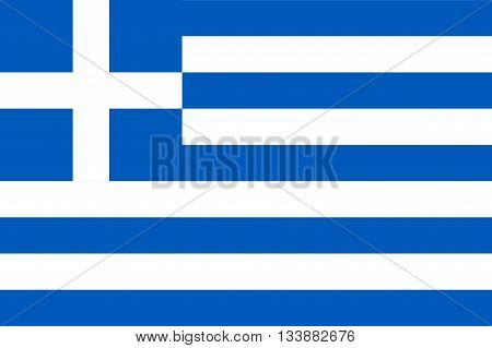 Official flag of Greece country. Vector illustration.