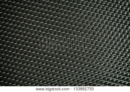 Details of fabric woven nylon black pythons.