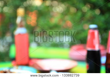 wine button and bokeh lights background soft focus