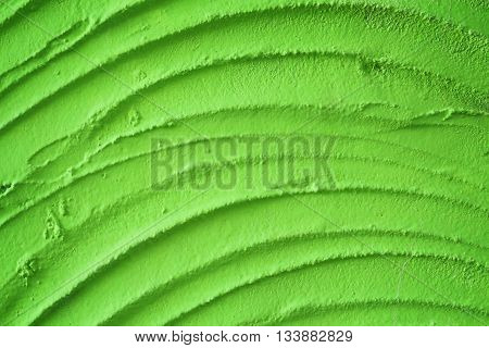 Green plaster texture close up for background