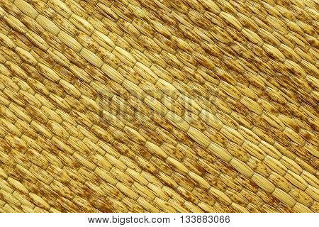 Mats woven from grasses in the background.
