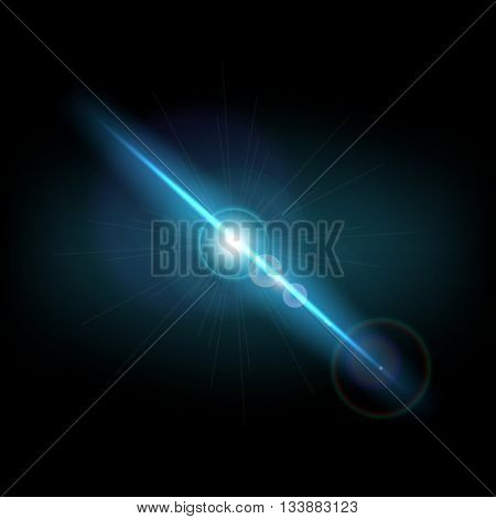 Abstract background with blue lens flare, stock photo