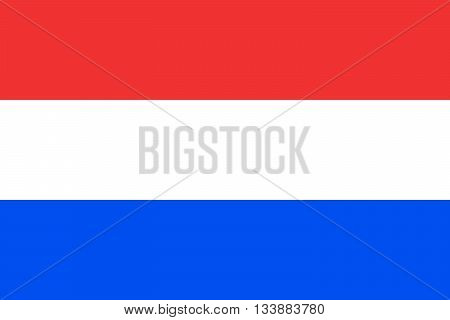 Official flag of Netherlands country. Vector illustration.