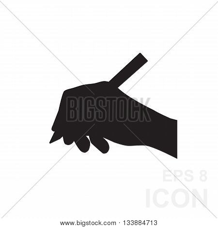 Hand Writing Simple Black Icon