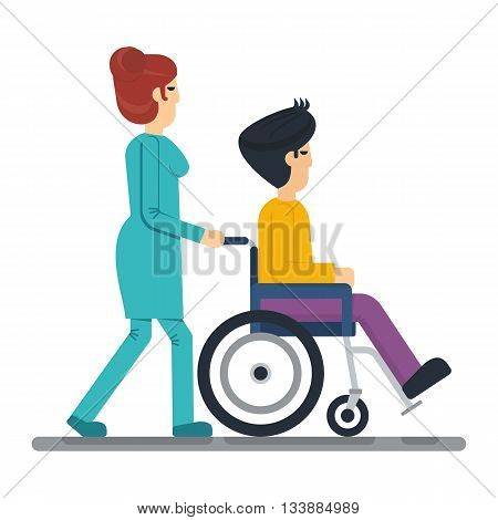 Health Care Man In Wheelchair
