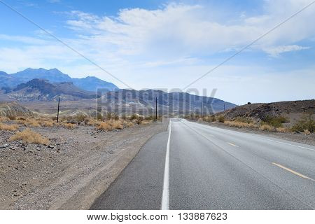 Perspective road from death valley national park California USA