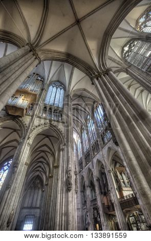Detail Of Cologne Cathedral In Germany