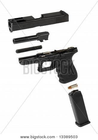 Exploded Handgun