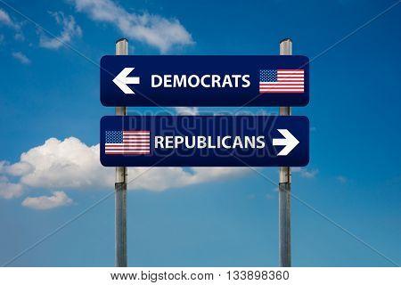democrat and republican concepts in american election