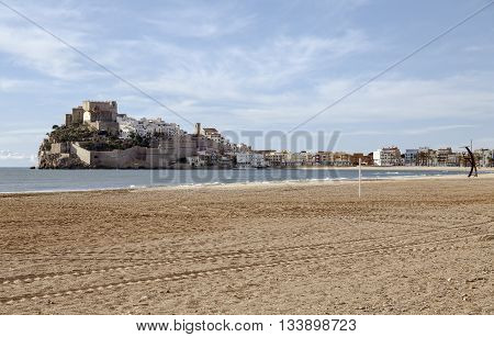 Panorama view of the Peniscola Valencia Spain