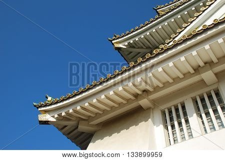 The beautiful Japanese castle style with gable roof