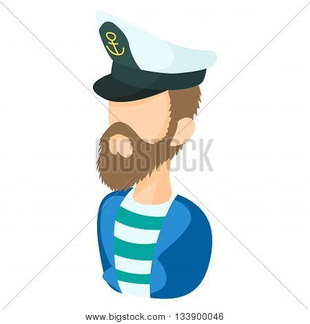 Captain icon in cartoon style on a white background