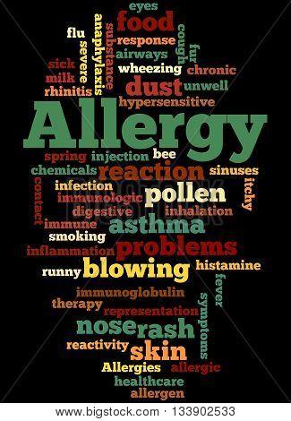 Allergy, Word Cloud Concept 3
