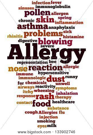 Allergy, Word Cloud Concept 9