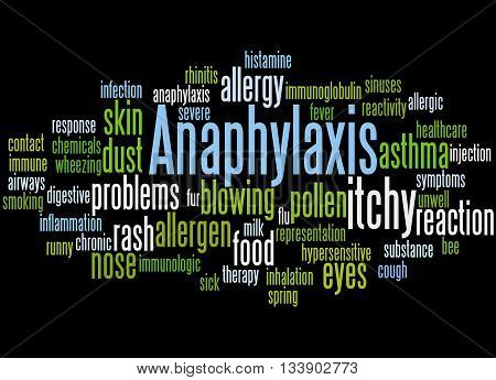 Anaphylaxis, Word Cloud Concept