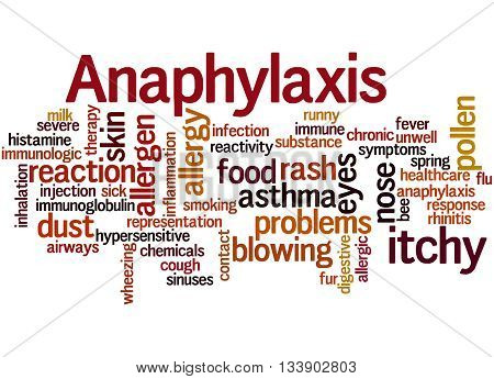 Anaphylaxis, Word Cloud Concept 2