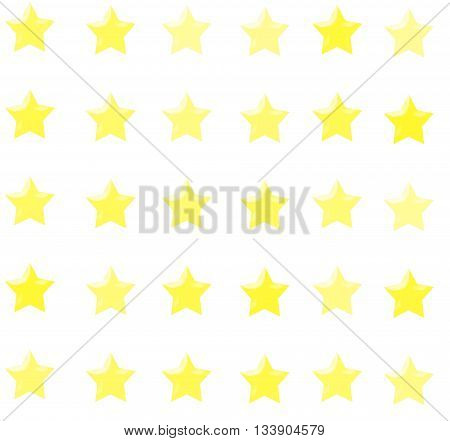 Golden Shiny Stars Background Able to be Tiled