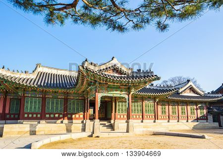 Morning At Changdeokgung Palace In Seoul, South Korea