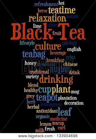 Black Tea, Word Cloud Concept 5