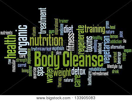Body Cleanse, Word Cloud Concept 2