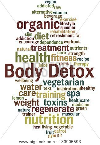 Body Detox, Word Cloud Concept 3