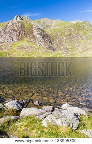 Lake Idwal and The Devil's Kitchen Snowdonia Wales United Kingdom.