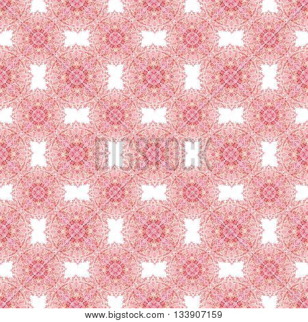 Watercolor mandala. Hand drawn pattern in Eastern style. Ornamental lace pattern for design in tribal and boho styles. Traditional lace seamless pattern on white background.