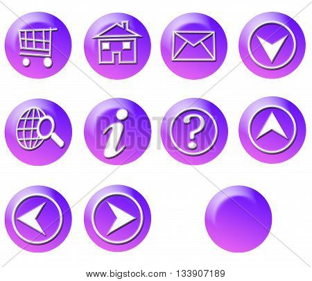 Pink Purple Circle Simple Gradient Website Icon Series