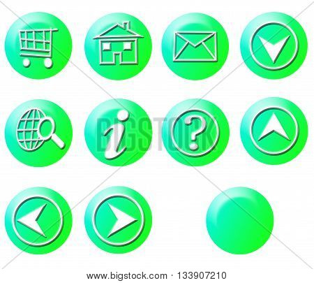 Light Green Circle Simple Gradient Website Icon Series