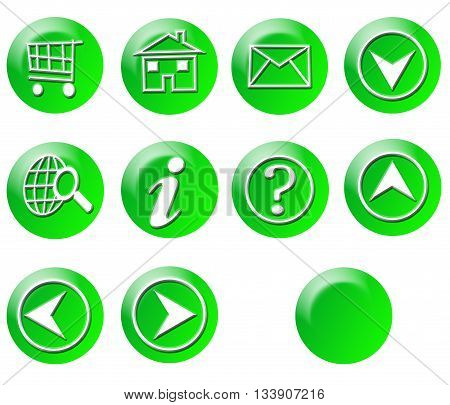Green Circle Simple Gradient Website Icon Series