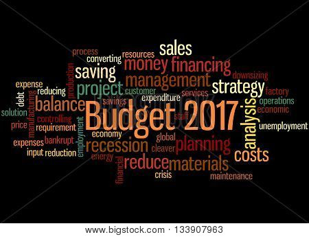 Budget 2017, Word Cloud Concept 5