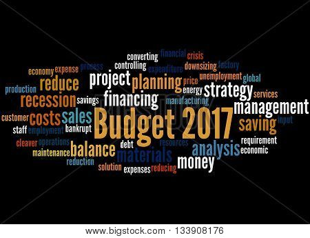 Budget 2017, Word Cloud Concept 6
