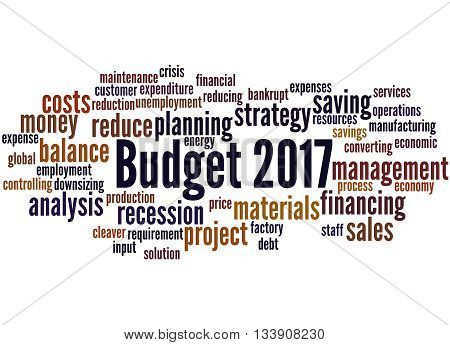 Budget 2017, Word Cloud Concept 7